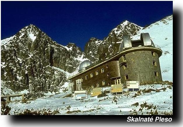 IMAGE: Skalnate Pleso Observatory with Lomnicky Stit in the  background